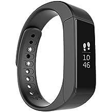 ROGUCI Podómetro Reloj Pulsera de Monitorización Touchscreen,Brazalete Inteligente Digital,Deportiva Smartwatch OLED IP67 Impermeable Bluetooth Monitor de Sueño de Calorías de Actividad de Control,Compatible con IOS 8.0 iPhone 4s, 5, 5s, 5c, ipad 3, 7, ANDROID 4.3 y BLUETOOTH 4.0,Negro
