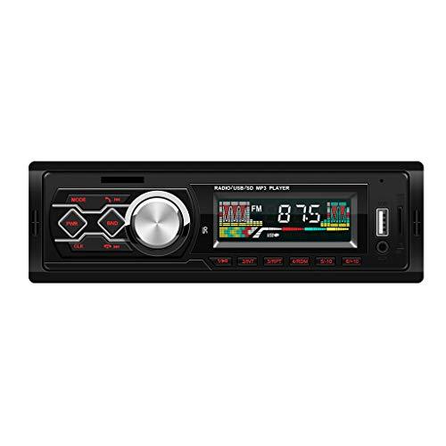 Bescita2 LKW Auto MP3 Player FM Autoradio Zentrale Steuerung Umwandlung Card U Disk Multifunktion Stereo Radio Fernbedienungssender Modulator mit Musik LCD Display