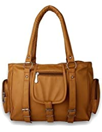 purses for women branded leather by EDGEKART® | Stylish shinning PU Leather Hnadbag For Women and Girls - Golden