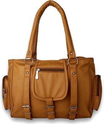 Stalkers Fancy Stylish Elegance Fashion Golden Yellow Colour Faux Leather Shoulder Bag for women