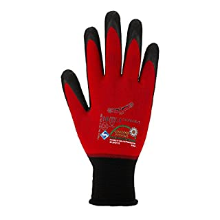 Asatex Condor-T 10 Finely Knitted Gloves, Red/Brown, Size