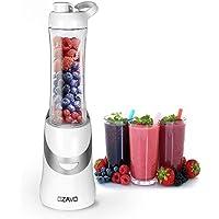 OZAVO Blender | Mini Blender Mixeur des Fruits | Mini Blender Mixer | 350 V | Mixeur Blender à Smoothie et à Milk-shake | Couteaux en métal 2 fois | 600ml | pour Sport et Voyage | Avec Bouteille et Couvercle Sans BPA