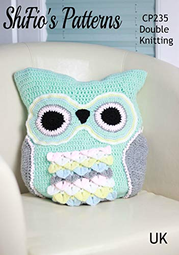 Crochet Pattern - CP235 -  Owl Cushion cover, pyjama case -  UK Terminology (English Edition) -