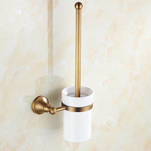 Continental Alle Bronze Brushed WC-Bürsten-Satz Retro Brown Badezimmer-Bürste Einfache Wand-für Badezimmer Storage WC Zubehör WC Schüssel Pinsel Haushalt Hotels Indoor Hardware Anhänger