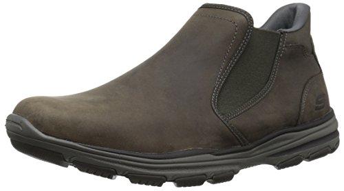 Details about Skechers Garton Keven Brown Leather Ankle Boot Mem Foam 64996 Men's 10.5 EU 44