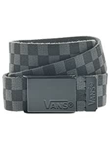 Vans Boys Deppster Web Check Belt Charcoal Youths One Size