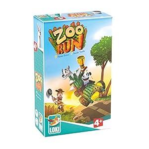 Lúdilo-Zoo Run Loki, Mesa para niños, cooperativo, Juegos educativos Infantiles, Color carbón 51600