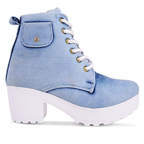KRAFTER Women Boots Denim Blue