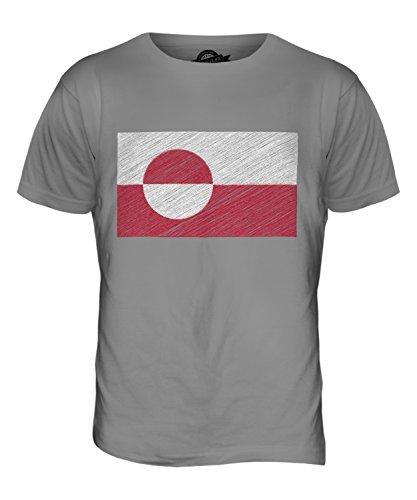 CandyMix Grönland Kritzelte Flagge Herren T Shirt Hellgrau