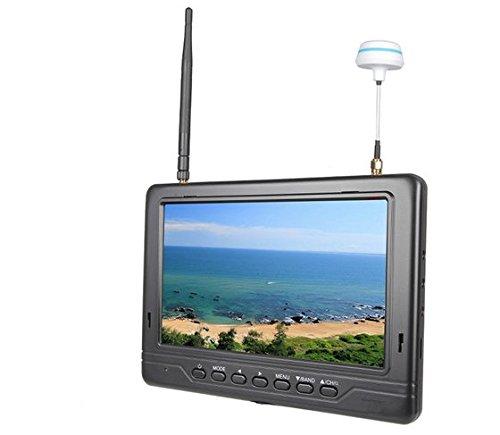 Gowe 5,8g 17,8cm FPV Monitor mit integriertem Dual 32CH Diversity Empfänger für DJI Phantom inspirieren 1DSLR Kamera (Empfänger Phantom 1)