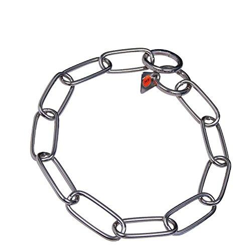 Gliederhalsband, acier inoxydable longueur 44 cm
