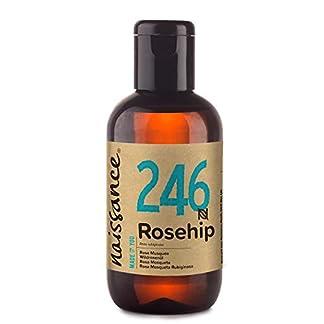 Naissance Aceite Vegetal de Rosa Mosqueta Rubiginosa n. º 246 – 100ml – Puro, natural, vegano, sin hexano y no OGM – Hidrata y nutre todo tipo de pieles, el cabello y las uñas.
