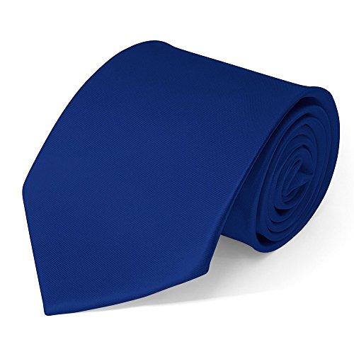 Klassische Krawatte inkl. Anleitung breit viele Farben Satin Schlips Herren, Farbe:marine blau