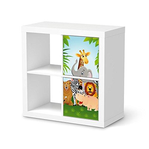 Disney Kann Sich Man Eine Wie Prinzessin (Sticker für IKEA Kallax Regal 2 Türelemente Hochformat | Dekorfolien Möbel-Sticker Folie Möbel-Tattoo | Einrichtung umgestalten Dekor | Design Motiv Wild)