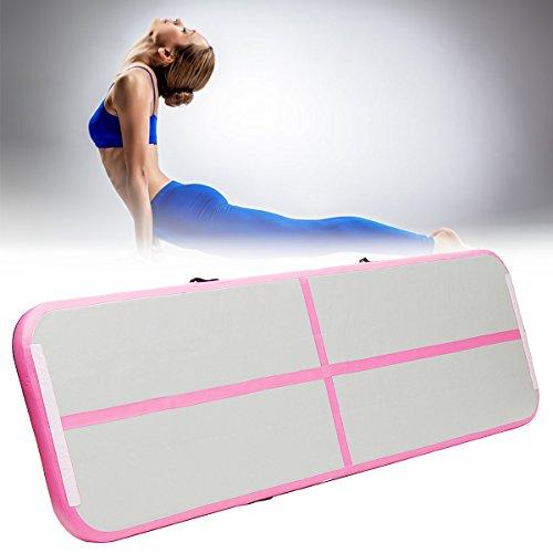 Air Track, Essort Gymnastik Tumbling Matten, Aufblasbare Air Bodenschutzmatte für Gym Training, Home, Picknick, Übung Verwenden, Cheerleading, auf Wasser 91x10x4cm rose