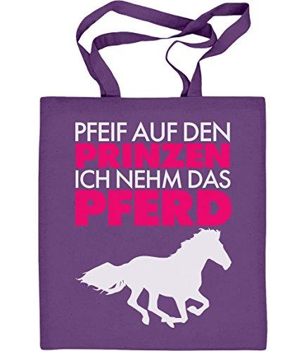 Prinz nehme das Pferd Jutebeutel Baumwolltasche One Size Violett (Günstige Pferd-kostüm)