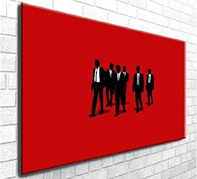 Resevoir Dogs Movie Art Box Canvas Art Print - Stunning Wall Decor - Modern Art Framed Ready to Hang (30in x 20in) - inexpensive UK light store.