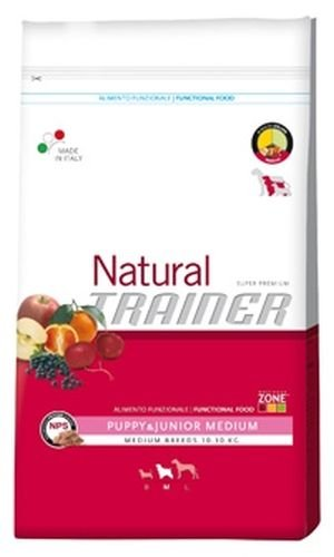 Trainer Natural - Natural Trainer Puppy & Junior Medium per Cani - Sacco da 12,5 kg