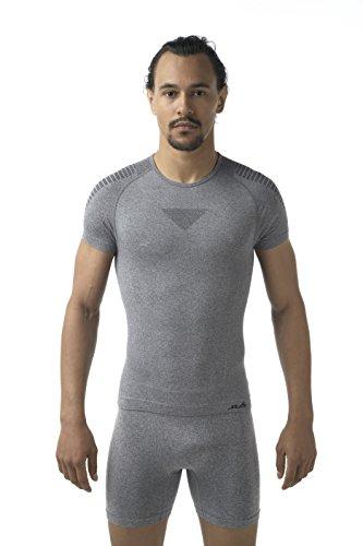 T-shirt intima uomo senza cuciture NEW AIR - Grigio - M