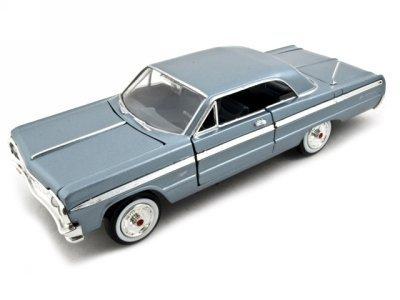 motormax-premium-american-1964-chevrolet-impala-1-24-scale-diecast-model-car-blue-by-motormax