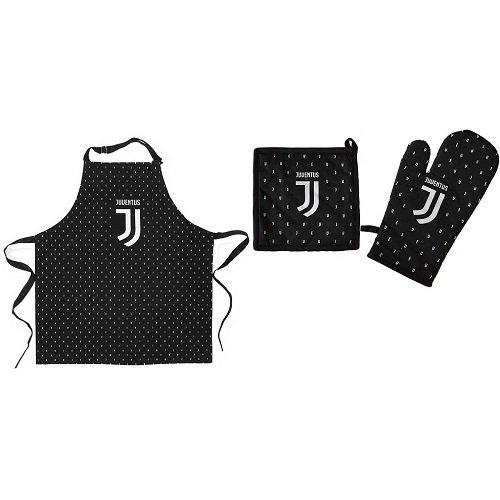Diva set cucina - grembiule + presina e guanto da forno f.c. juventus - prodotto ufficiale