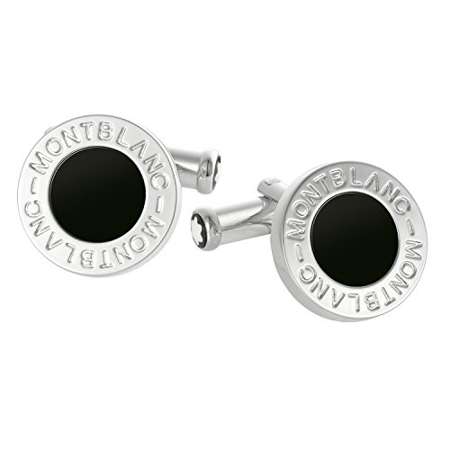 montblanc-cufflinks-classic-collection-round-steel-onyx-107463