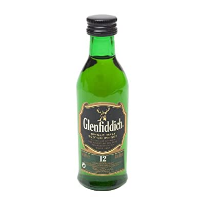 Glenfiddich 12 year old Single Malt Whisky 5cl Miniature UNTUBED by Glenfiddich