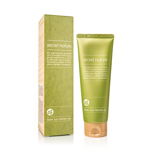 Secret Nature Exfoliating Korean Face Peeling Gel with Jeju Complex | Exfoliates the Dead Skin | Contains Activated Cellulose and Volcanic Ash | Achieve Soft & Healthy Skin | Prevent Aging and Acne Outbreaks