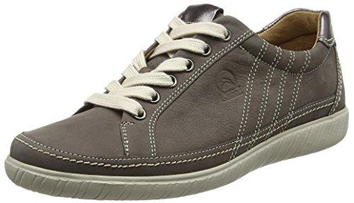 Gabor Shoes Comfort, Scarpe da Ginnastica Basse Donna Marrone (fumo/argento 31)