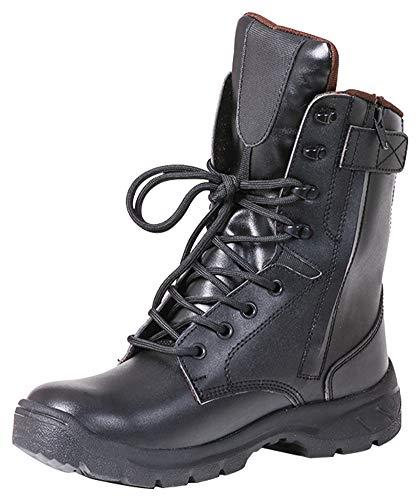 MYXUAA Stivali da combattimento alla caviglia Stivali tattici leggeri Scarpe da allenamento Stivali da lavoro per esterno-Black-EU45/US12/UK11