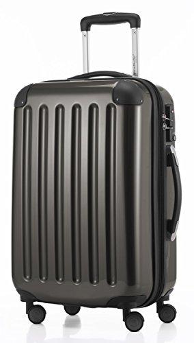 HAUPTSTADTKOFFER - Alex - 3er Koffer-Set Trolley-Set Rollkoffer Reisekoffer Erweiterbar, TSA, Doppelrollen, (S, M & L), Graphit - 3