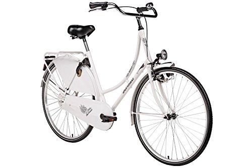 Hollandrad 28'' Bermuda Valencia in weiß Stadtrad Damen Holland Fahrrad Citybike Beleuchtung Gepäckträger Rücktrittbremse
