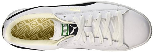 Puma  Basket Classic,  Herren Sneaker Low-Tops Weiß (White-Black)