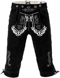 Edelnice Trachtenmode Herren Trachten Kniebund Lederhose Trachtenjunkie dunkelbraun oder schwarz