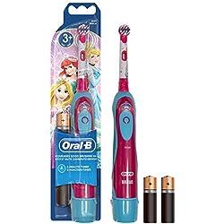 Oral-B Brosse à Dents à Piles pour Enfant, Bleu et Rouge