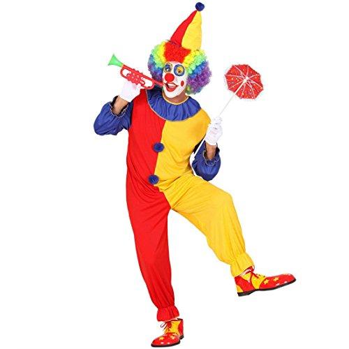 Männer Clown Kostüm Harlekin Narrenkostüm Clownkostüm Clownskostüm Narr M 46/48