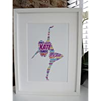 Personalised Dancer Unframed Print