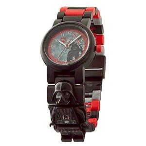 Armbanduhr Lego Star Wars – Darth Vader, inklusive 12 zusätzlichen Armbandgliedern, Lego Minifigur im Armband integriert, analoges Ziffernblatt, kratzfestes Acrylglas