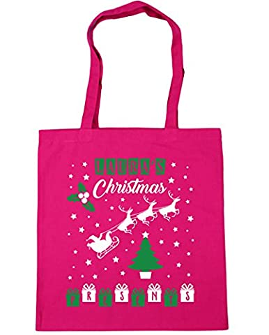 HippoWarehouse PERSONALISED (Your Name) Christmas Presents Tote Shopping Gym Beach Bag 42cm x38cm, 10 litres