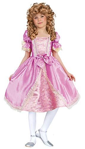 Karneval-Klamotten Barock Kostüm Kinder Renaissance Rokoko Kinderkostüm Mädchen rosa Gold Größe 146