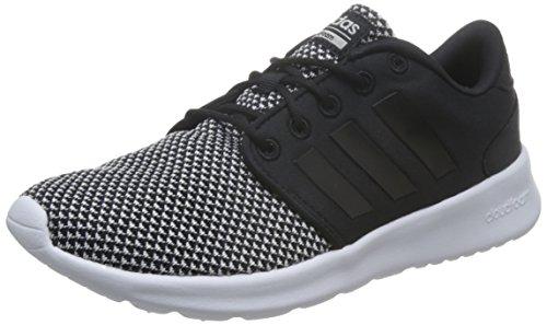 adidas Damen Cloudfoam QT Racer Fitnessschuhe, Schwarz (Core Black/Matte Silver), 36 2/3 EU (Feinen Streifen Schwarzen)