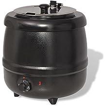 vidaXL Hervidor de Sopa Eléctrico 10 L 5.5 kg 400W Negro Calentador Termo Cocina