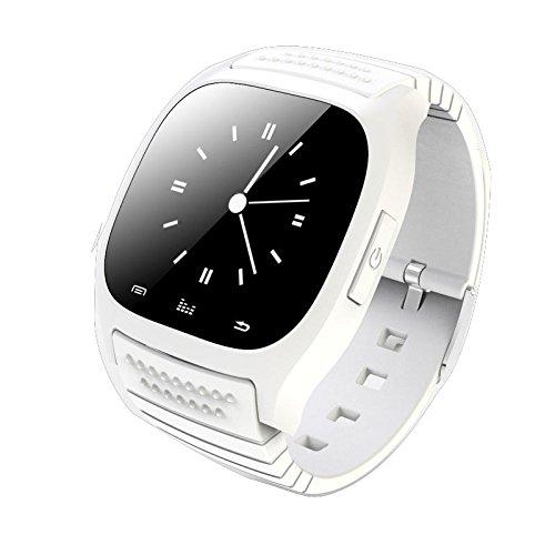 Kolylong® Compañero Elegante del teléfono del Reloj de 1PC Bluetooth para iOS Android (White)