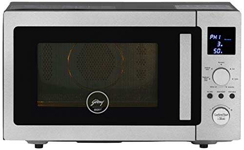 Godrej 28 L Inverter Convection Microwave Oven (GME 528 CIP1 QM Plain Elec, Silver) with Free Treo Starter Kit