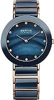Bering Time–Reloj de pulsera analógico para mujer cuarzo, revestimiento de acero inoxidable 11435–767 de Bering Time