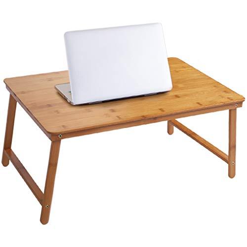Tables basses Table d'ordinateur Simple Pliante en Bambou Tatami Petite Mini Chambre à Coucher Petit Appartement (Color : Wood, Size : 60 * 39 * 29cm)