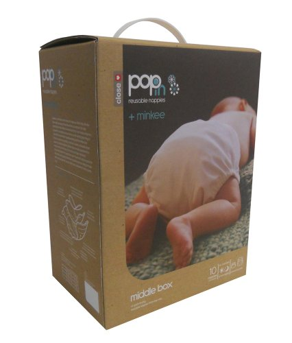 Close Pop-in 10-MK-PASTEL Stoffwindeln Minkee – New Gen V2 – Mittlere Box - 3