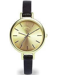 gooix GX08003009 correa de acero inoxidable reloj de pulsera reloj 50 M analógico negro oro