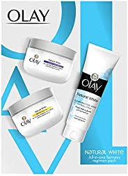 Olay Natural White Beauty Box: Face Wash 100 g + Day Cream SPF 24 50 g + Night Cream 50 g