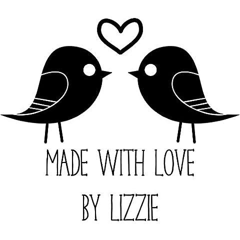 Sello Personalizado hecho a mano, diseño de pájaros